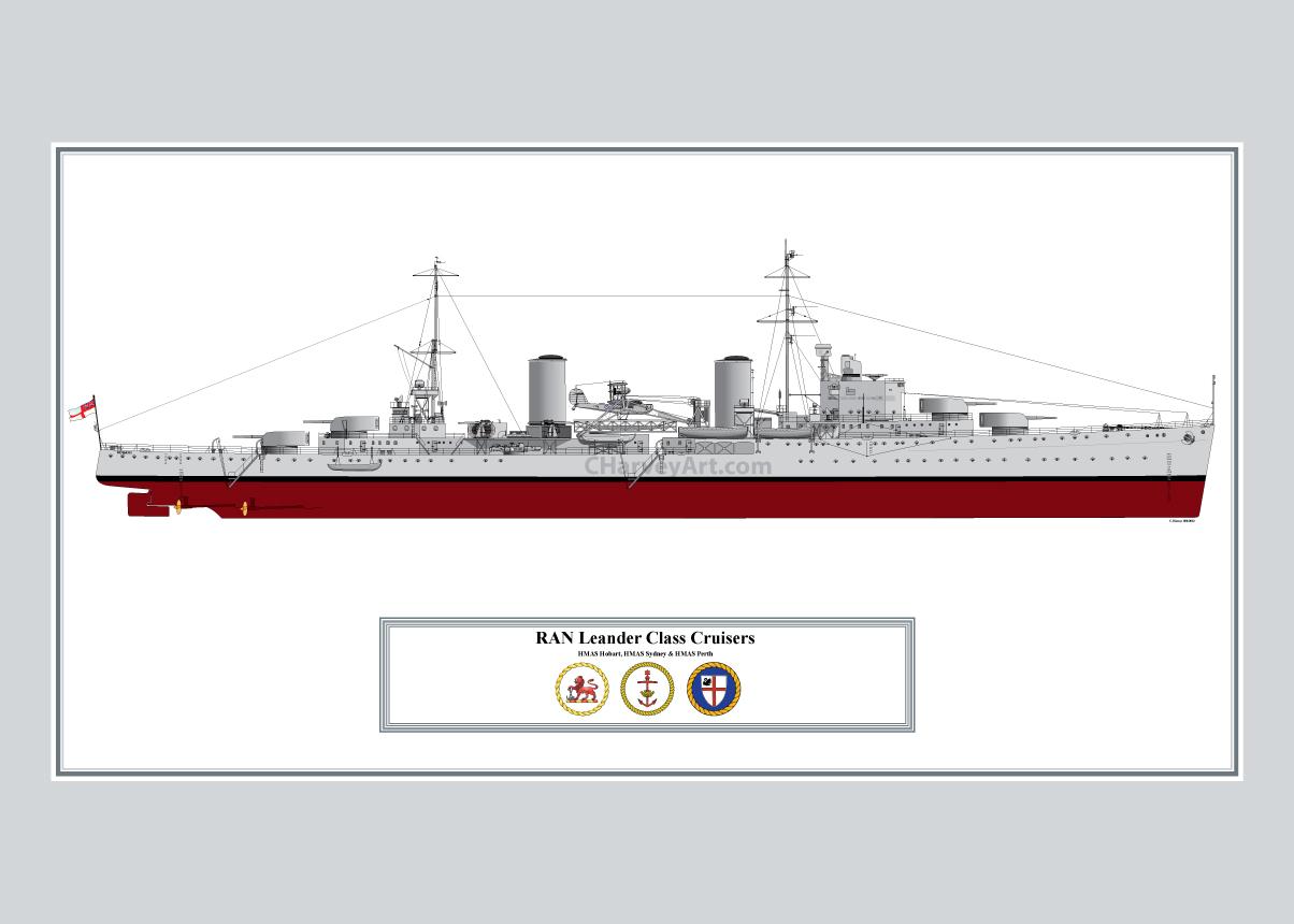 Hmas Hobart  Wwii Royal Australian Navy Leander Class